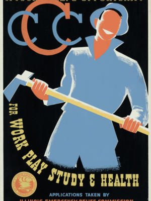 """Винтажный Ретро Постер """"Возможности молодого человека для работы, игр, учебы и здоровья"""" США 1941 для интерьера купить"""