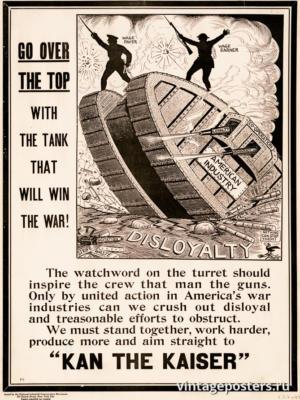 """Винтажный Ретро Постер """"Ничто не может их остановить!"""" США 1917 для интерьера купить"""