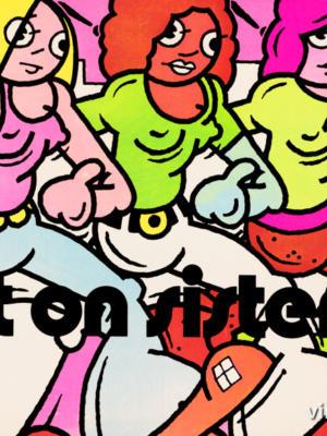 """Винтажный Ретро Постер """"Right on sisters"""" США 1971 для интерьера купить"""