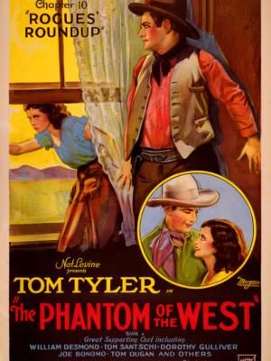 """Винтажный Ретро Постер """"Том Тайлер и Дороти Гулливер в к/ф «Призрак запада: Облава на разбойников»"""" США 1931 для интерьера купить"""