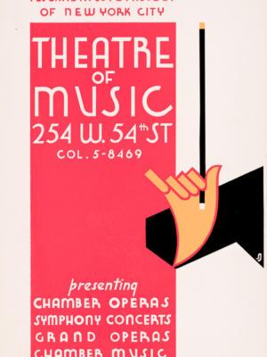 """Винтажный Ретро Постер """"Нью-Йоркский городской театр музыки"""" США 1936 для интерьера купить"""