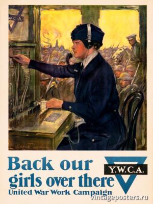"""Винтажный Ретро Постер """"Верните наших девушек оттуда"""" США 1918 для интерьера купить"""