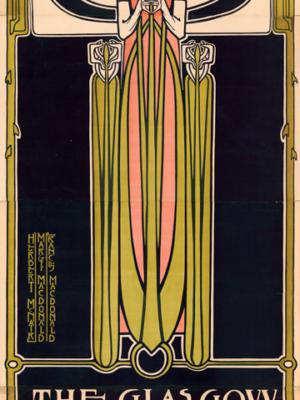 """Винтажный Ретро Постер """"Открытие Института изящных искусств в Глазго"""" Англия 1894 для интерьера купить"""