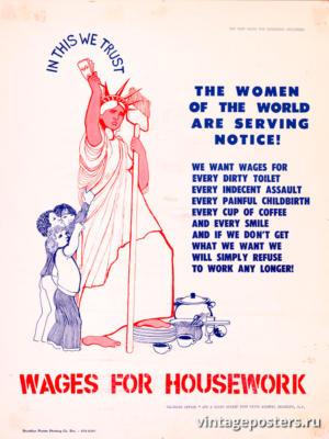 """Винтажный Ретро Постер """"Мы верим в это: женщины мира заслуживают внимания!"""" США 1976 для интерьера купить"""