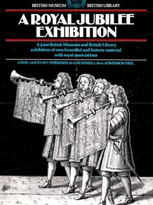 """Винтажный Ретро Постер """"Королевская юбилейная выставка"""" Англия 1977 для интерьера купить"""