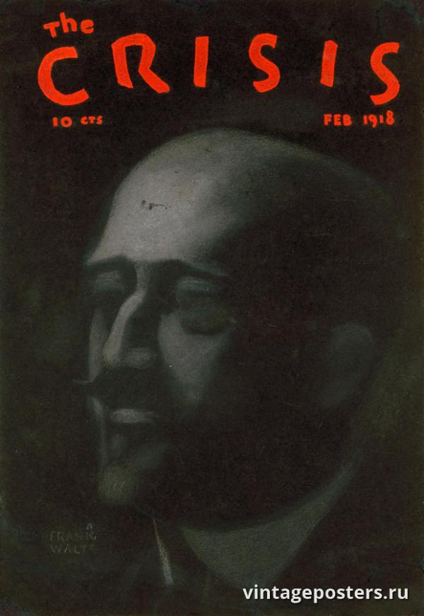 """Винтажный Ретро Постер """"Обложка журнала «The Crisis»"""" США 1918 для интерьера купить"""