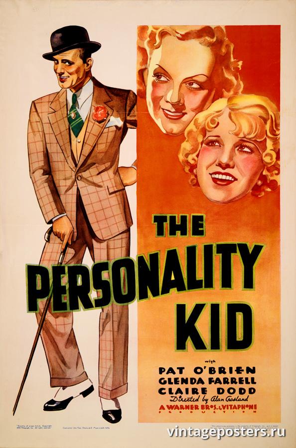 """Винтажный Ретро Постер """"Пэт О'Брайен, Гленда Фаррелл и Клэр Додд в к/ф «The Personality Kid»"""" США 1935 для интерьера купить"""