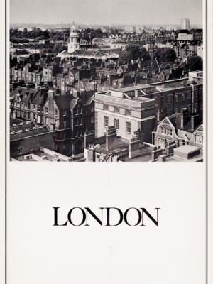 """Винтажный Ретро Постер """"Лондон"""" США 1970 для интерьера купить"""