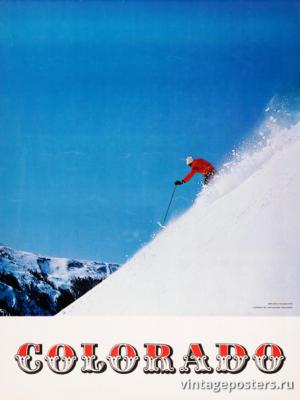 """Винтажный Ретро Постер """"Колорадо"""" США 1967 для интерьера купить"""
