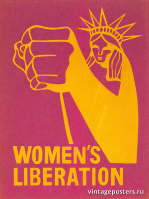 """Винтажный Ретро Постер """"Освобождение женщин"""" США 1970 для интерьера купить"""