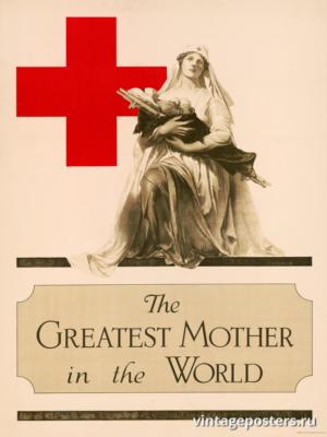 """Винтажный Ретро Постер """"Величайшая мать в мире"""" США 1917 для интерьера купить"""