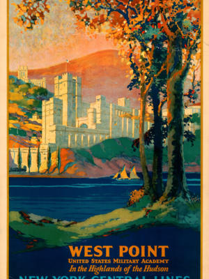 """Винтажный Ретро Постер """"Военная академия «West Point»"""" США 1924 для интерьера купить"""