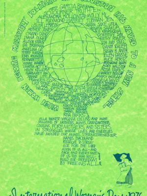 """Винтажный Ретро Постер """"Когда женщины стали массово политическими"""" США 1976 для интерьера купить"""
