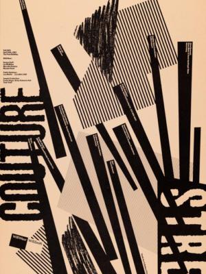 """Винтажный Ретро Постер """"Вилли Уир и Вилли Смит в показе «Street Couture»"""" США 1983 для интерьера купить"""