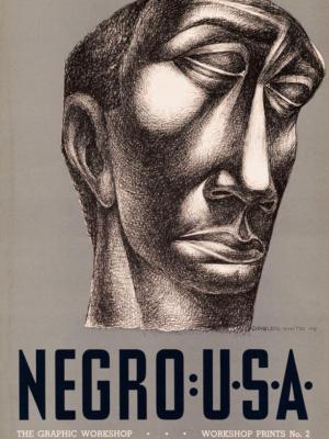 """Винтажный Ретро Постер """"Негр: США: Графический мастер-класс"""" США 1949 для интерьера купить"""