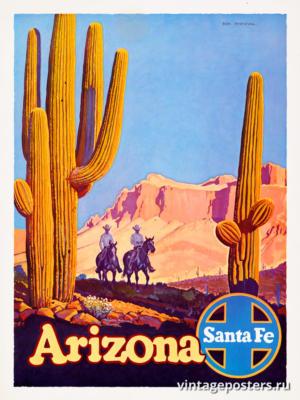 """Винтажный Ретро Постер """"Аризона"""" США 1963 для интерьера купить"""